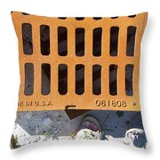 Grate In Summer Sun Throw Pillow