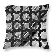 Grated River Walk Throw Pillow
