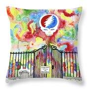 Grateful Dead Concert In Heaven Throw Pillow