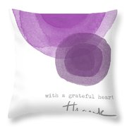 Grateful Heart Thank You- Art By Linda Woods Throw Pillow
