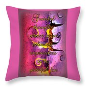 Grateful Thoughts Attract More Delicious Experiences To Be Grateful For. Throw Pillow