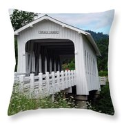 Grave Creek Bridge Throw Pillow