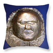 Grave Mask Throw Pillow
