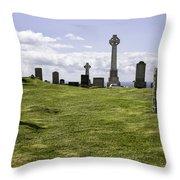Grave Of Flora Macdonald Throw Pillow