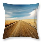 Gravel Lines Throw Pillow