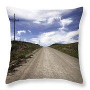 Gravel Road Throw Pillow