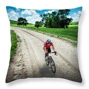 Gravel Rusch Throw Pillow