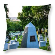 Graves At Sunrise Arlington Cemetery Throw Pillow