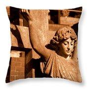 Graveyard Angel. Throw Pillow