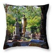 Graveyard In Charleston Throw Pillow