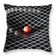 Gravity Simulation Throw Pillow