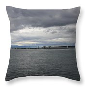 Gray And Gray Throw Pillow