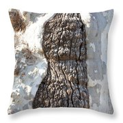 Gray Bark Abstract Throw Pillow