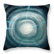 Gray-blue Star. Sparkling Light Throw Pillow