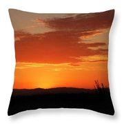 Gray Clouds Aren't Bringing Me Down Throw Pillow