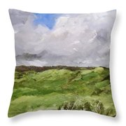 Gray Dunes Throw Pillow