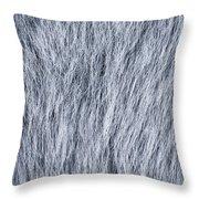 Gray Fake Fur Horizontal Throw Pillow