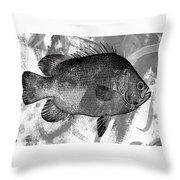 Gray Fish Throw Pillow