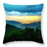 Gray Mountain Throw Pillow