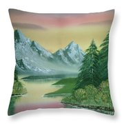 Gray Mountains Throw Pillow