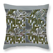 Gray Pattern,abstraction Throw Pillow