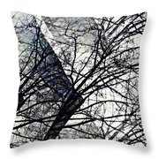 Gray Repetitions Throw Pillow