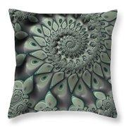 Gray Spiral Throw Pillow