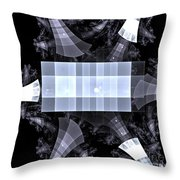 Gray Towers Throw Pillow