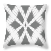 Gray Twisted Braids Throw Pillow