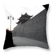 Gray Wall Throw Pillow