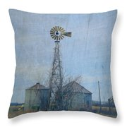 Gray Windmill 2 Throw Pillow