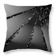 Grayed Out Throw Pillow