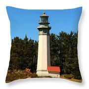 Grays Harbor Light Station Throw Pillow