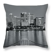 Grayscale By The River 2017 Throw Pillow