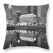 Grayscale Columbus Throw Pillow