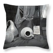 Grayscale Still Life Throw Pillow