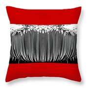 Grayscale Swollen Icicles Throw Pillow