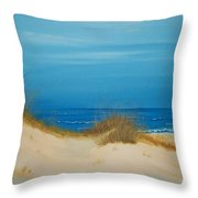 Grayton Beach Dunes Throw Pillow