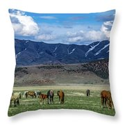 Grazing Herd Throw Pillow