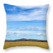 Grazing Sheep - Maniototo Plain Throw Pillow
