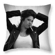 Grease Funky Throw Pillow