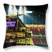 Great American Ballpark Throw Pillow by Keith Allen