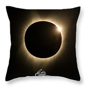 Great American Eclipse 16x9 Totality Square As Seen In Albany, Oregon Signature Edition. Throw Pillow