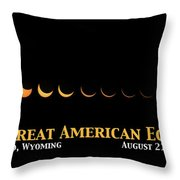 Great American Eclipse 2 Throw Pillow