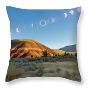 Great American Eclipse Composite 2 Throw Pillow