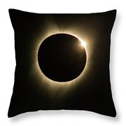 Great American Eclipse Diamond Ring 5x7 As Seen In Albany, Oregon. Throw Pillow
