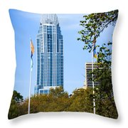 Great American Tower Throw Pillow