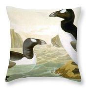 Great Auk (alka Impennis): Throw Pillow