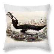 Great Auk Throw Pillow