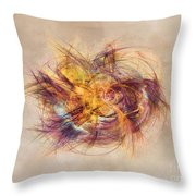 Great Bang Fractal Art Throw Pillow